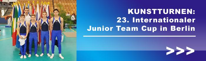 Kunstturnen: 23. Internationaler Junior Team Cup in Berlin