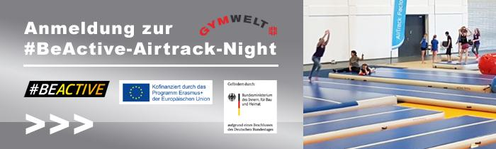 "It's time to ""#BeActive"": Anmeldung #BeActive-Airtrack-Night"